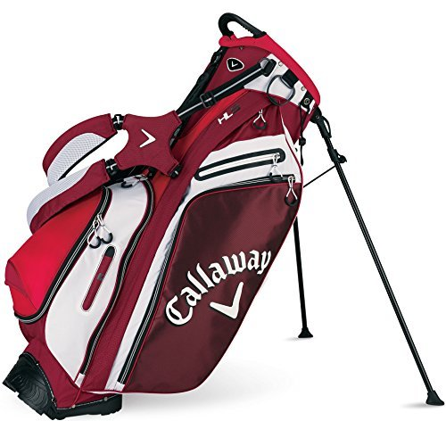 Callaway 2015 Hyper-Lite 5 Golf Stand Bag, Red/White/Black (Callaway Chev Stand Bag compare prices)