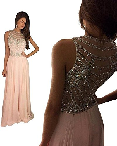 Still Waiting Women's Sparkly Crystal Prom Dresses Long 2018 Beading Chiffon Wedding Party Gowns Formal XY003Lavender-US2 by Still Waiting