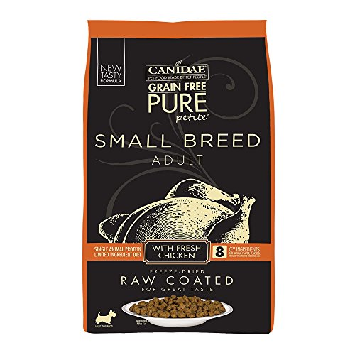 Canidae Pure Petite Raw Coated Chicken Dog Food 10Lb