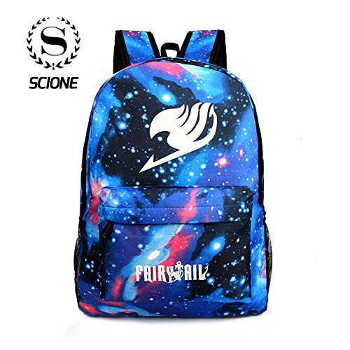 Amazon.com: Galaxy Starry Sky Shoulders Backpacks School Luminous Anime Bags Fairy Tail Print Cartoon Travel Nylon Bag for Teenage: Kitchen & Dining