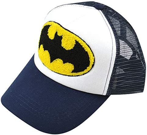 BATMAN バットマン メッシュ キャップ 帽子 CAP 野球帽 ワッペン さがら刺繍 ワッペン ロゴ プリント 刺繍 アメカ