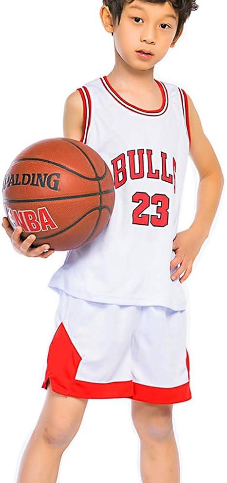 PANGOIE Maillots de Baloncesto para Niños - Conjunto NBA Michael ...