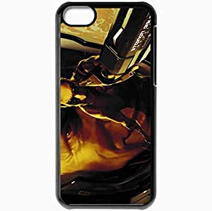Personalized iPhone 5C Cell phone Case/Cover Skin Adam Jensen Gun Reflection Face Armor Black