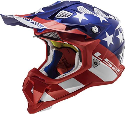 Glory Full Face Helmet - LS2 Helmets Unisex-Adult Off Road Subverter Helmet (Glory Blue Chrome, X-Large)