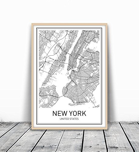 New York Poster, New York Map, New York City, City Map Posters, Nyc, New