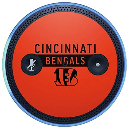 Skinit NFL Cincinnati Bengals Amazon Echo Plus Skin - Cincinnati Bengals Orange Performance Series Design - Ultra Thin, Lightweight Vinyl Decal Protection