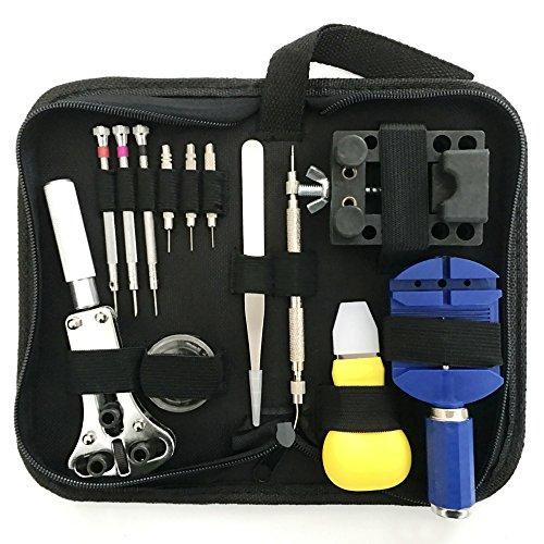 Change Out Kit (Auphi 13 pcs Watch Repair Tool Kit Tweezers Spring bar tool Screwdrivers Tools Set)