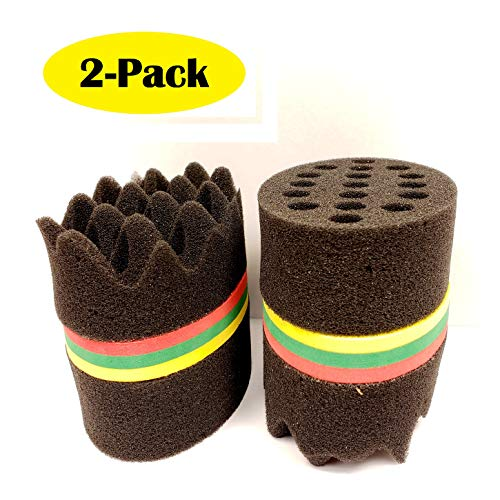 New Oval Double Side Two in One Magic Barber Sponge Hair Brush for Afro Braid Style Dreadlock Coils Wave Hair Curl Twist Sponge Brush