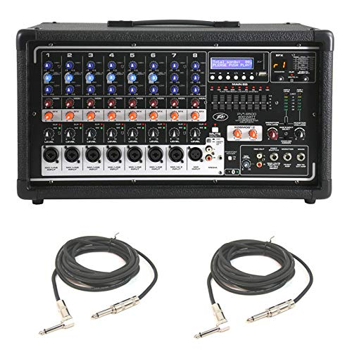 8 Channel 400w Powered Mixer - Peavey Pvi 8500 Pro Audio 8 Channel Powered 400W Mixer (2) 1/4