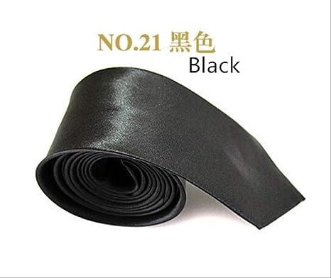 XJWQ Corbata Estrecha Negra Corbata para Hombre 5 cm Casual Arrow ...