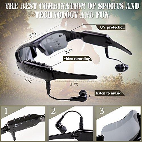 ALLWIHONE Sunglasses Recorder Bluetooth Headphones product image