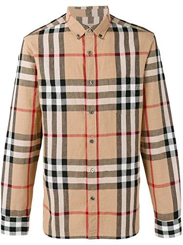Burberry Men's 40220722316B Beige/Brown Linen Shirt