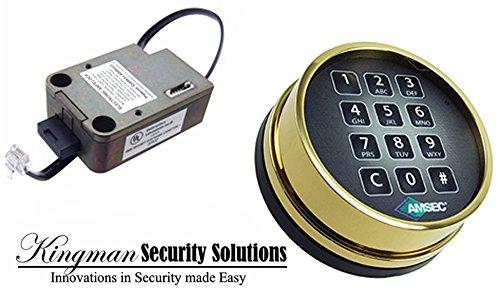 EXL10XL Electronic Keypad & Lock - Brass Finish