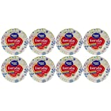 Great Value Everyday Premium Paper Plates, 8 5/8'', 100 Count (8pack 800 ct)