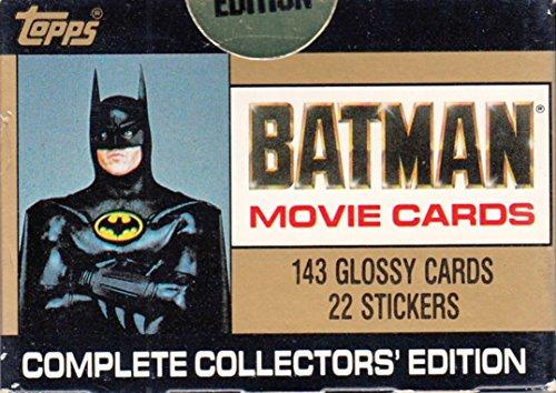 BATMAN THE MOVIE SERIES 1 1989 TOPPS FACTORY BASE CARD & STICKER SET 143 + 22 + 11