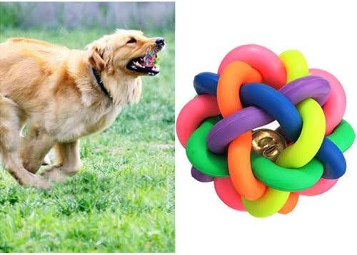 Pelota de goma para perros, con cascabel, 7 cm: Amazon.es ...