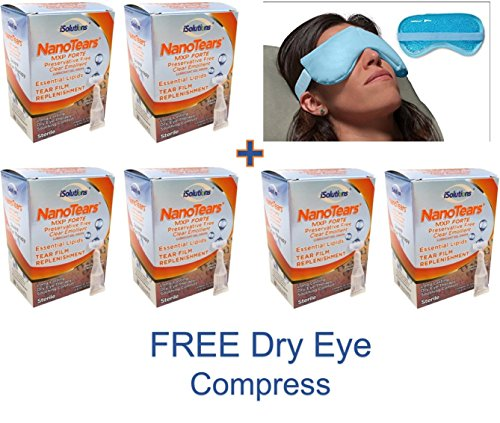 Best Severe Dry Eye Drops - Relief in Seconds! 6 Month Supply - FREE Dry Eye Compress - Nano technology Means Less Blurring and Longer Lasting! Save 28% - Free Shipping