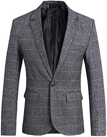 メンズ スーツジャケット 1つボタン 上着 テーラードジャケット チェック スリム 無地 スタイリッシュ ビジネス/結婚式/パーティー/イベント/演奏会 ジェントルマン ジャケット カジュアル