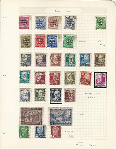Germany DDR Collection 1948 on Quad Page, Used Ddr Quad