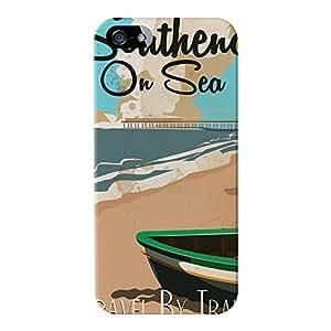 Southend on sea Full Wrap alta calidad impreso en 3d funda de piel con tapa para Apple® iPhone 5/5S por Nick Greenaway + Protector de pantalla transparente GRATIS