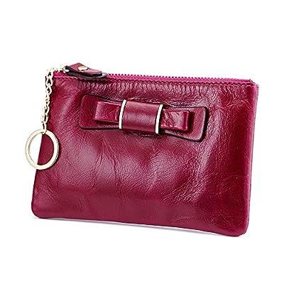 Mefly Etui En Cuir Zipper Fashion Retro Wallet Cire D'Huile