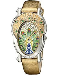 Brillier Womens 19-02 Gd Royal Plume Analog Display Swiss Quartz Gold Watch