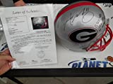 Aaron Murray Signed Georgia Bulldogs UGA Gray Full Size Stats Helmet JSA LOA COA