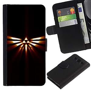 KLONGSHOP // Tirón de la caja Cartera de cuero con ranuras para tarjetas - Tribal Triángulo Totem - Samsung Galaxy S3 III I9300 //