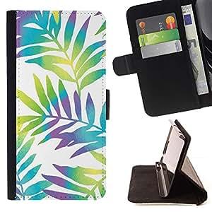 Momo Phone Case / Flip Funda de Cuero Case Cover - Branch blancos vibrantes hojas - Sony Xperia Z3 Compact