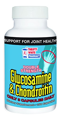 Thrifty White Double Strength Glucosamine & Chondroitin - 150 Capsules, Pack of 6 by Thrifty White