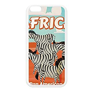 Africa White Silicon Rubber Case for iPhone 6 Plus by Nick Greenaway + FREE Crystal Clear Screen Protector