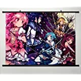 Home Decor Anime Puella Magi Madoka Magica Whole Cosplay Wall Scroll Poster Fabric Painting Kaname Madoka 23.6 x 17.7 Inches-058