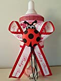 Ladybug Baby Shower Centerpiece Bottle Big 14'' Piggy Bank it's a Girl Decoration