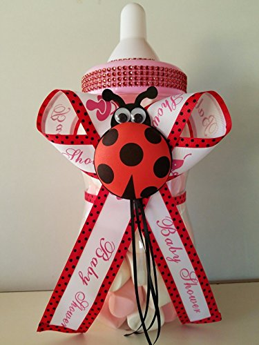 Ladybug Baby Shower Centerpiece Bottle Big 14'' Piggy Bank it's a Girl Decoration by Product789