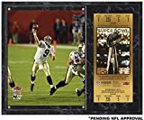 "Drew Brees New Orleans Saints Super Bowl XLIV Sublimated 12"" x 15"" Plaque with Replica Ticket - NFL Player Plaques and Collages"