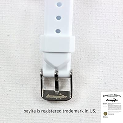 bayite Silicone Watch Bands with Watch Buckle for Fitbit Alta Pack of 3 Black White Gray, 5.5 - 7.8 inches