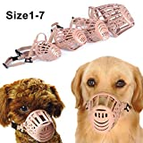 Dds5391 Pet Dogs Cats Mouth Mask Muzzles Adjustable and Comfortable Secure,Plastic Adjustable Design Anti Biting Mouth Mask 7#