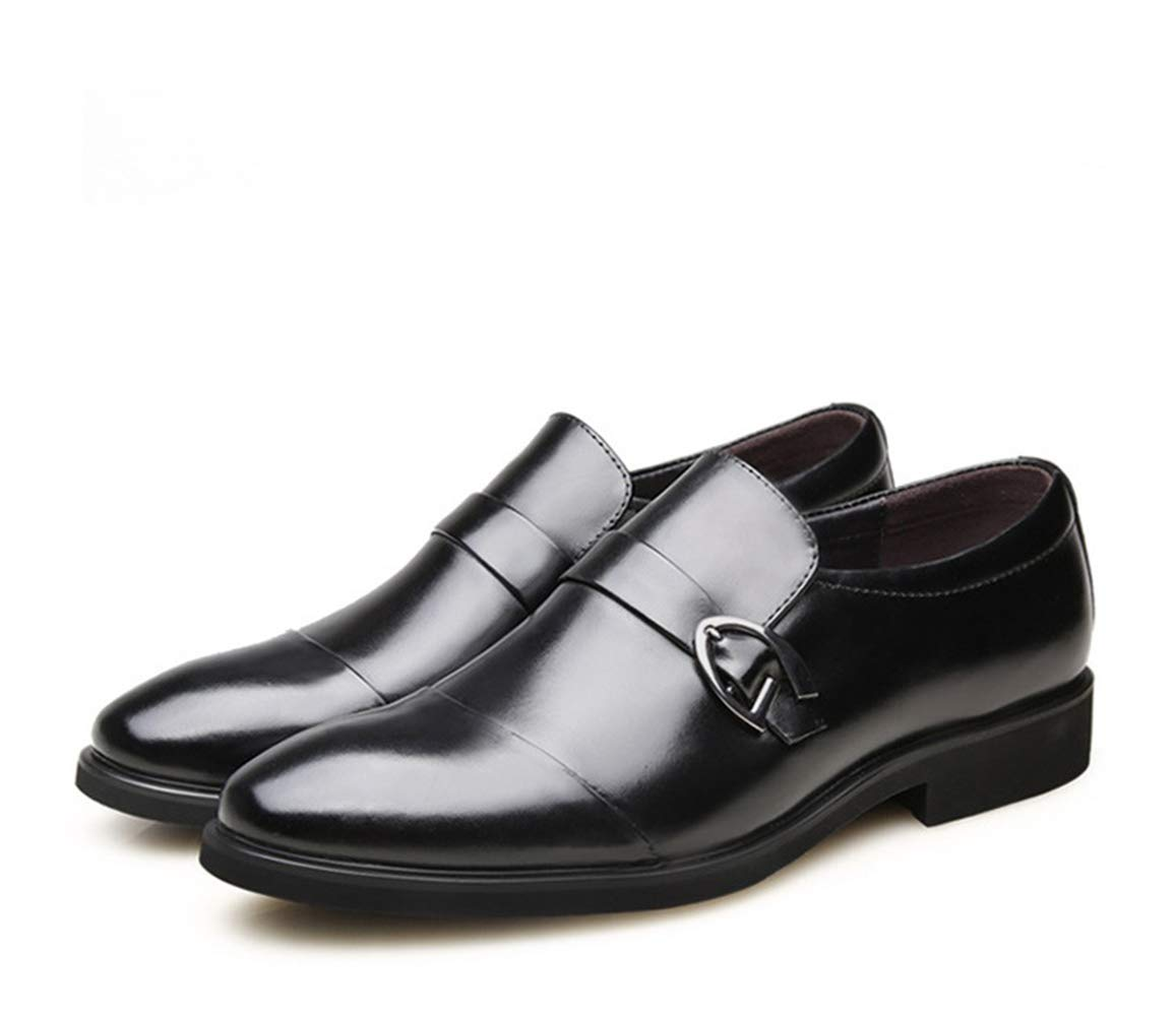 Jincosua Hombres Zapatos Zapatos Zapatos formelles Hebilla Poli Patente Piel auténtica Piel Oficina Business Zapatos, Negro, EU 39 4d6853