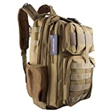 Tactical Backpack - WASING Military Tactical Backpack Gear Assault Pack Camping Hiking Traveling Bag 40L(tan)