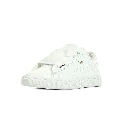 Puma Basket Heart Patent Inf, Zapatillas Bebé-para Niñas: Amazon.es: Zapatos y complementos