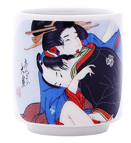 5 PCS CERAMIC JAPANESE SAKE CUPS GUINOMI (EROTIC ART) by Japan Good Products (Image #6)