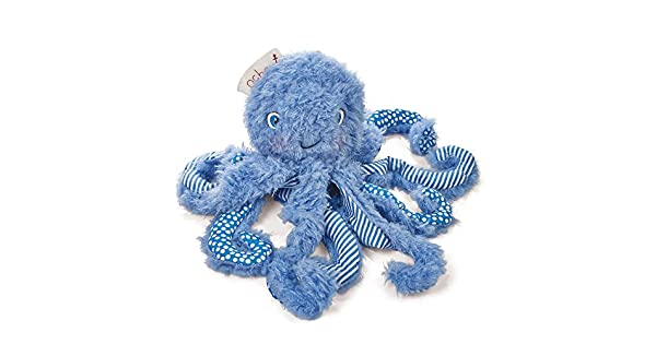Amazon.com: Bunnies by the Bay Ocho Plush Pulpo, Azul, 9