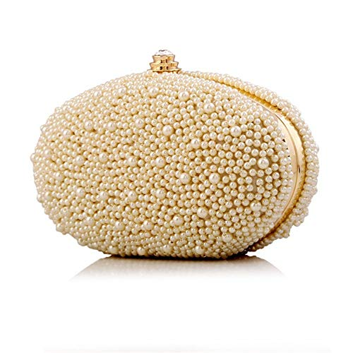 Evening Color Clutches Bags Clubs Wedding Occasion Women Evening Party Clutch amp; Purse White Beige Special Beading Clutch Purse Bag Evening Handbags Handbag Jxth for 10pqx