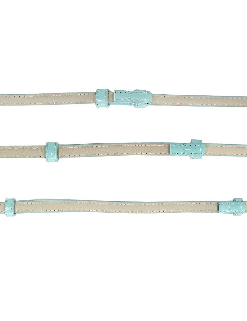 Dahlia Womens Adjustable Skinny Belt Faux Pearl Rhinestone Buckle