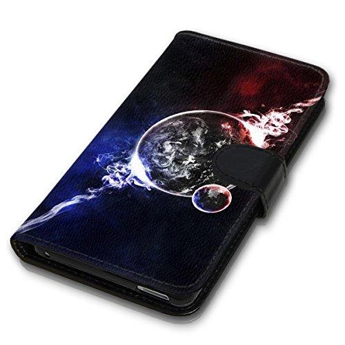 Wallet Book Style Flip Handy Tasche Case Schutz Hülle Schale Motiv Etui für Apple iPhone 5 / 5S - Design Flip MV215