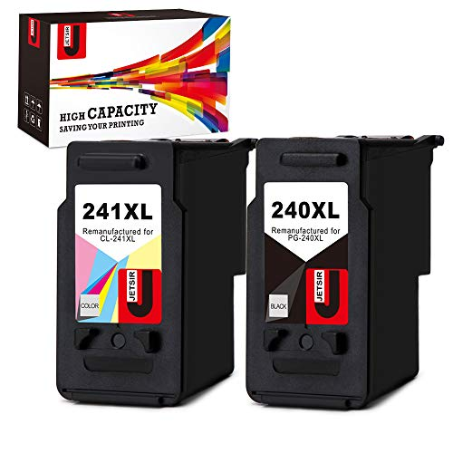 JetSir Remanufactured Replacement for Canon PG-240XL CL-241XL Ink Cartridges,Use on Canon Pixma MG3620 MG3220 MX472 MX452 MX532 MG3520 MG2220 MX432 MX512 MG2120 MG3522 MG3120 MG4120 MX439 Printer ()
