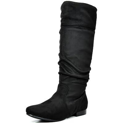 DREAM PAIRS Women's Flat Knee High Boots | Knee-High