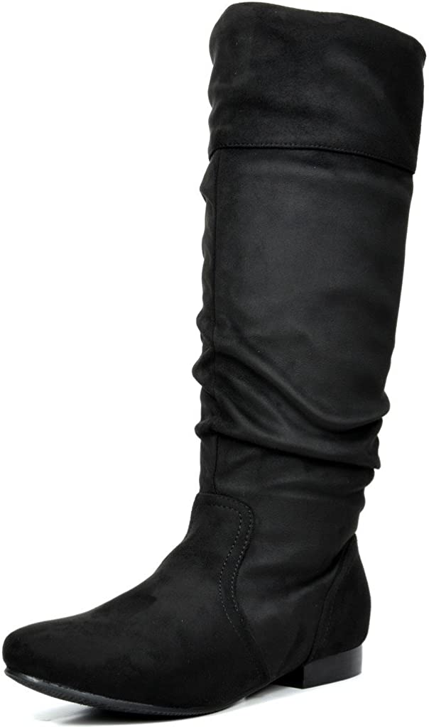 DREAM PAIRS Women's Flat Knee High Boots
