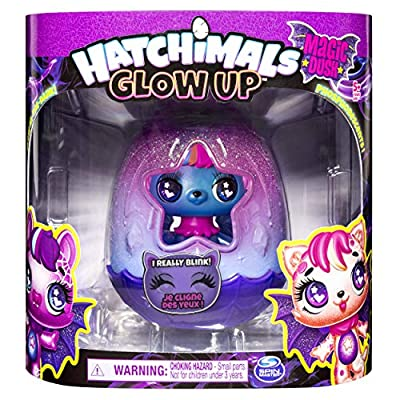 HATCHIMALS, Glow Up, 3-Inch Magic Dusk Collectible Figure with Glow-in-the-Dark Wings (Style May Vary): Toys & Games