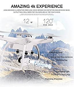 UPair One Drone with 4K Camera Gimbal 7inch Large FVP Screen Live Video 2.4G Remote Controller GPS Auto Return to Home Function by G10